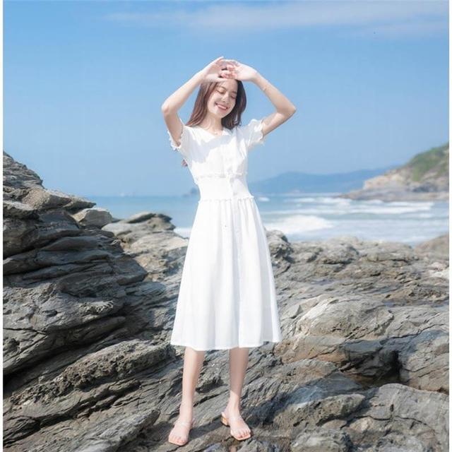 2020夏季法式仙女连衣裙,美的优雅,这样穿浪漫